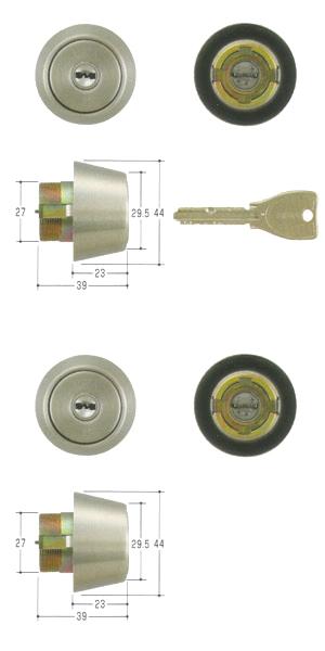 2個同一セットMIWA(美和ロック) PRシリンダーBHタイプ TMCY-223BH LD DZ 02P09Jul16
