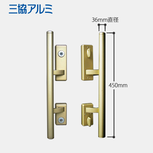 U9シリンダー(鍵穴)付き三協アルミ 玄関ドア MIWA PE-02 + GAS2(GAE2) プッシュプルハンドル錠 キー ドアノブ 主な使用ドア:DX2、アルピーネEX など美和ロック PE02 GAS2 02P09Jul16