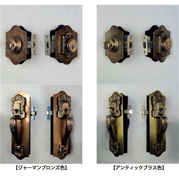 NFディンプル仕様KODAI セパレート サムラッチハンドル 923034 装飾錠 キー4本付属 ドアノブ T-60本締錠/T-60空錠長沢製作所 古代 02P09Jul16