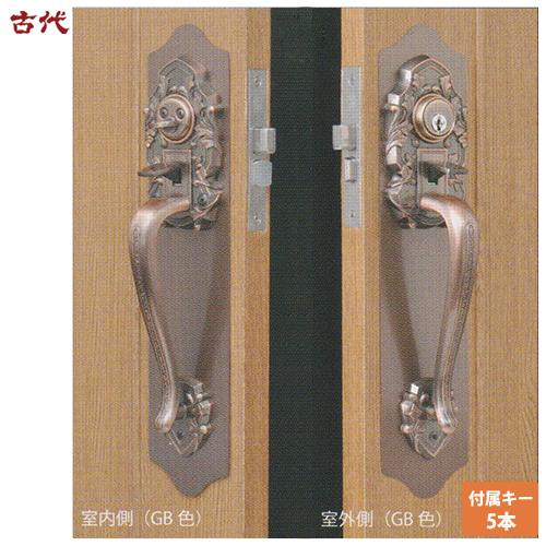 ワンロックNFディンプル仕様CTS錠KODAI 万能 サムラッチハンドル 装飾錠 ドアノブ 長沢製作所 古代 02P09Jul16