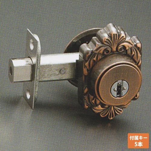 注:メーカー状況により、新仕様NFキー4本付属での納品の場合有りKODAI 装飾錠 ミラノ GT-M キー5本付属 本締り錠 補助錠長沢製作所 古代 02P09Jul16
