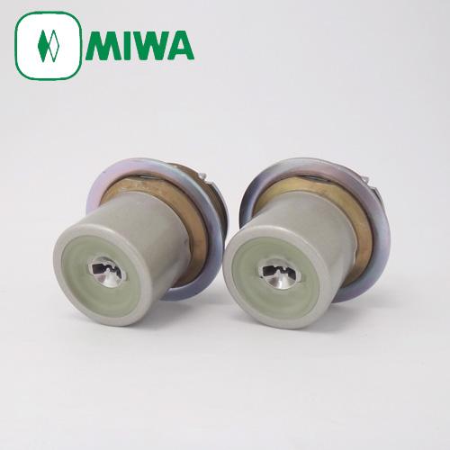 2個同一セットMIWA PRシリンダー LIXタイプ(全長40mm仕様) 塗装シルバー色MCY-508TE0 LIX 02P09Jul16