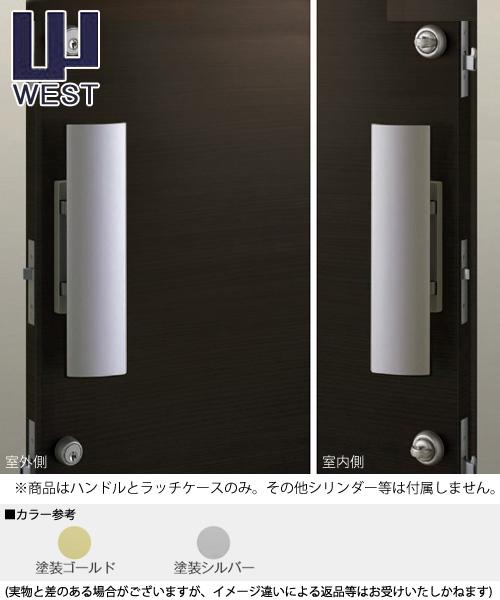 WEST プッシュプル錠 925 空錠タイプ ハンドル(P75Bラッチケース付属) 空錠 02P09Jul16
