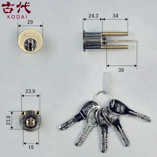 KODAI G15 ディンプルシリンダー KCY-52 プレジデント向け キー5本付属 玄関 主な使用ドア:木製ドア仕上げ 装飾錠 本締錠 KCY-32代替品 など古代 コダイ 長沢製作所 02P09Jul16