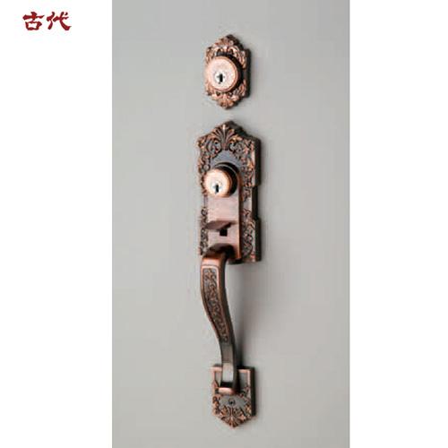 KODAI 古代 装飾錠 アスカ TU-201 サムラッチハンドル錠 + 補助錠 ドアノブ 長沢製作所 古代 02P09Jul16