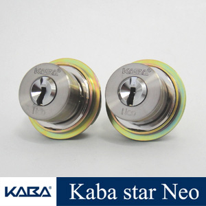 2個同一 KabaStarNeoシリンダー MIWA LIXタイプ 6150  玄関 カバスターネオ Kaba Star Neo 6150 美和ロック LIX TE0