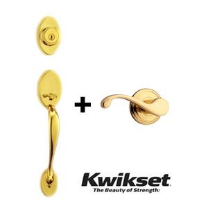 kwikset チェルシー + コモンウェルス ハンドル錠セット   クイックセット 800CE + CHL 輸入住宅 輸入ドア 木製ドア