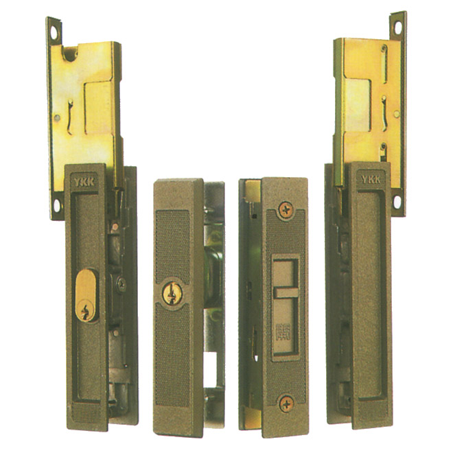 WEST製 YKK アルミサッシ 引戸錠 召合せ + 戸先 KH-304  KH304 引戸 引違戸