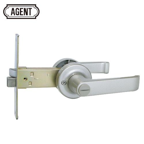 AGENT LB-1000 浴室 間仕切り レバーハンドル錠  バックセット100mm 内側:サムターン/外側:非常開錠装置