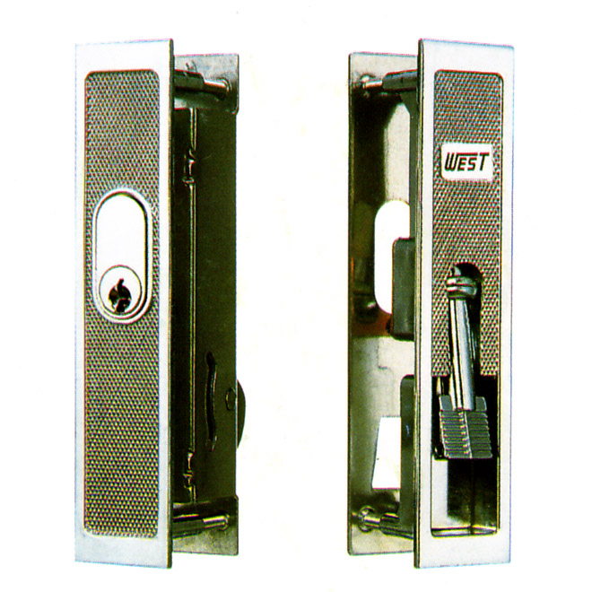 WEST製 アルミサッシ 召合錠 SMKH-1  引き戸 主な使用サッシ:YKK, 立山アルミ, アルコック, 秀峰, 銘峰 など SMKH1 引戸 引違戸