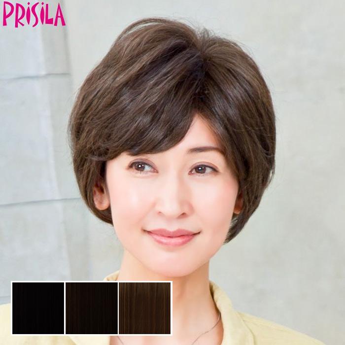 ミセス総手植えカバーピース C-002 PRISILA プリシラ つけ毛 かつら ウィッグ ウィック ウイッグ 部分かつら 婦人用 敬老の日 母の日