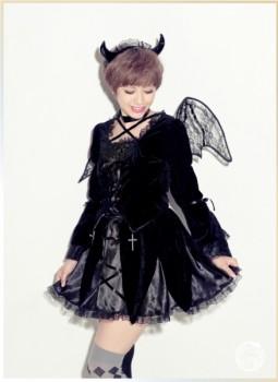 black devil girl halloween costume heroine fancy dress costume outfit