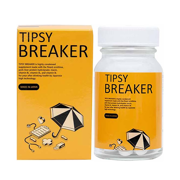 チプシブレーカー 90粒 (全国一律送料無料) TIPSYBREAKER tipsybraaker オルニチン ビタミン1 ビタミン2 ビタミン6 栄養 補助 サプリメント バイベックス製薬