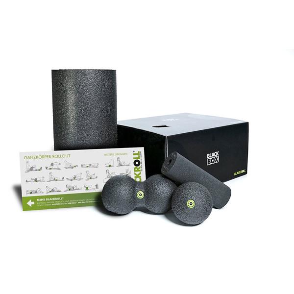 黒ROLL 黒BOX (ブラックロール ブラックボックス) (送料無料) フォームローラー セットドイツ製 筋膜リリース エクササイズ マッサージ ストレッチローラー ヨガポール ストレッチポール フィットネスロール ドイツAGR(脊椎健康推進協会)認定