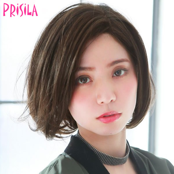 プリシラ オールウィッグ【ワンレンボブ】A-697耐熱 (送料無料)