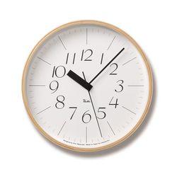 正確な時を刻む電波時計!ちっちゃめの文字がかわいらしい♪Lemnos (レムノス) Riki Clock RC L 電波時計 WR08-26