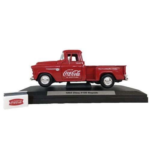 (165)Coca-Cola Miniature Car Chevy Stepside Pickup 1/24スケール(PJ-MC21)*