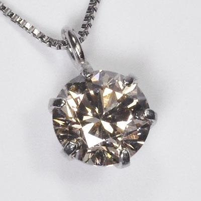 【現品処分】【数量限定】プラチナ・ダイヤモンド0.4ct(SIクラス・鑑別書カード付) スタッドペンダント(ネックレス)