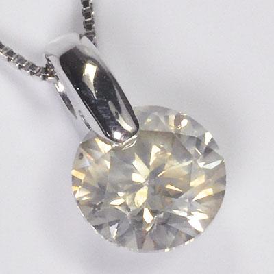 【現品処分】プラチナ・ダイヤモンド1.018ct(Lカラー・SI2・GOOD・鑑定書付) 一点留めペンダント(ネックレス)