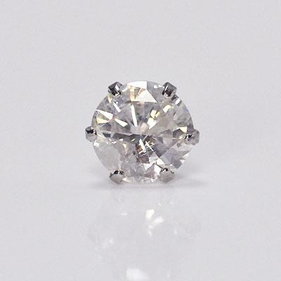 プラチナ・ダイヤモンド0.3ct シングルピアス 片耳用 メンズ