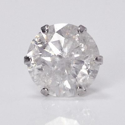 プラチナ・ダイヤモンド1.0ct シングルピアス 片耳用 メンズ