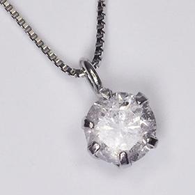 プラチナ ダイヤモンド ネックレス 一粒 プラチナ・ダイヤモンド0.2ct スタッドペンダント(ネックレス)【あす楽対応】