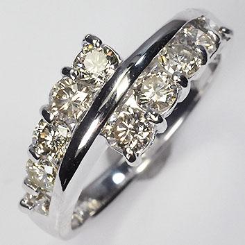 ダイヤモンド リング スウィートテン K18WG・ダイヤモンド1.0ct(SIクラス・鑑別書カード付) スウィートテンダネスリング (指輪)