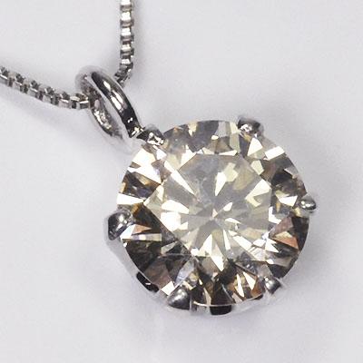 プラチナ・ダイヤモンド0.5ct(SIクラス・鑑別書付) スタッドペンダント(ネックレス)