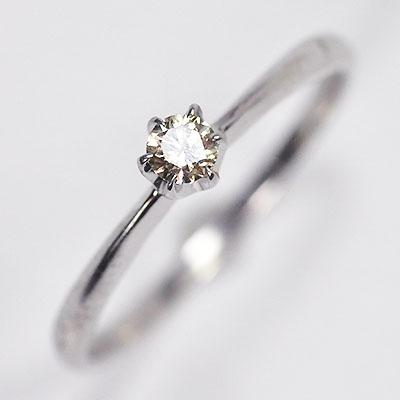 婚約指輪 プロポーズリング K10WG ホワイトゴールド ダイヤモンド0.1ct エンゲージリング SIクラス マーケティング 豊富な品 ソリティアリング 鑑別書カード付
