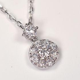 ダイヤモンド ネックレス スウィートテン K18WG・ダイヤ0.3ct(SIクラス・鑑別書カード付) アニバーサリー10ペンダント(ネックレス)