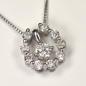 プラチナ ダイヤモンド ネックレス スウィートテン プラチナ・ダイヤ0.3ct(SIクラス・鑑別書カード付) スウィート10ホースシューペンダント (ネックレス)