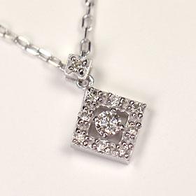 ダイヤモンド ネックレス スウィートテン K18WG・ダイヤ0.1ct アニバーサリー10ペンダント (ネックレス)