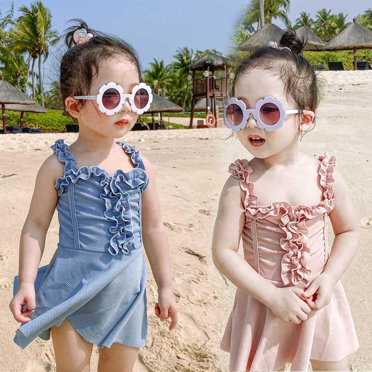 水着 女の子 ワンピース キッズ ベビー ジュニア フリル 子供 スイムキャップ 子供用 130 120 スクール水着 90 予約販売 プール みずぎ 110 100 こども 可愛い 毎週更新