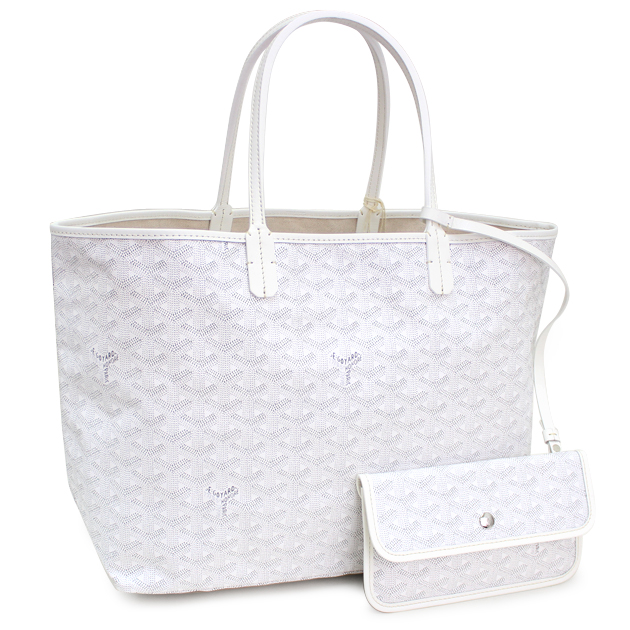 Goyard Saint Louis Pm White Tote Bag