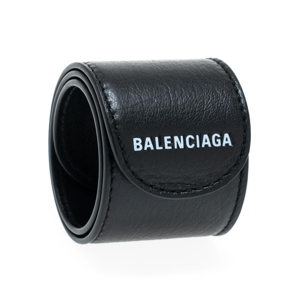 バレンシアガ サイクル ブレスレット バングル レザー BALENCIAGA 483272 DE919 1000 革 ブラック 黒 メンズ レディース