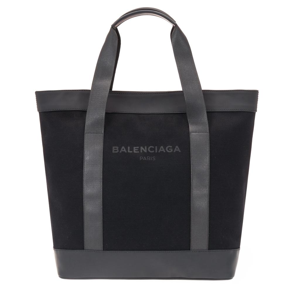 バレンシアガ BALENCIAGA トートバッグ キャンバス/マットレザー ブラック 374767 KLX4N 1000 メンズ レディース 送料無料
