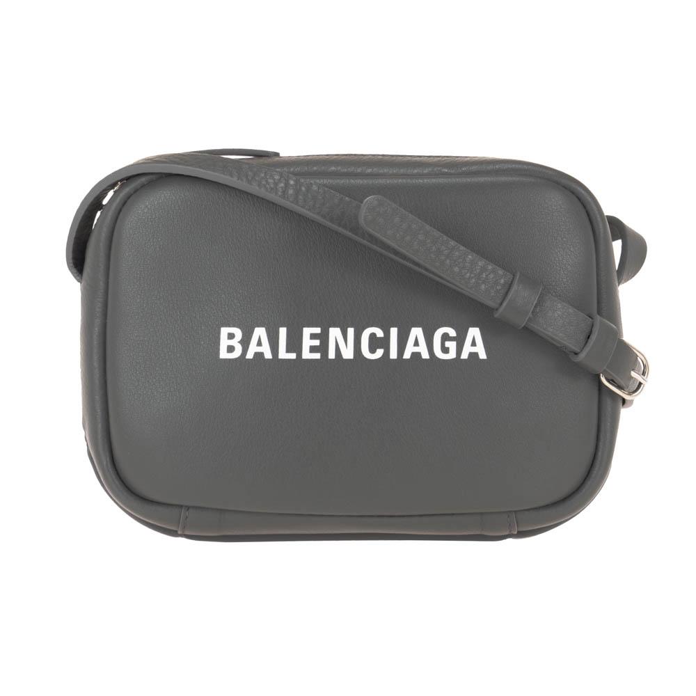 バレンシアガ BALENCIAGA ショルダーバッグ カメラバッグ グレー エブリデイ レザー 革 489809 D6W2N 1160 EVERYDAY CAMERA XS 男女兼用
