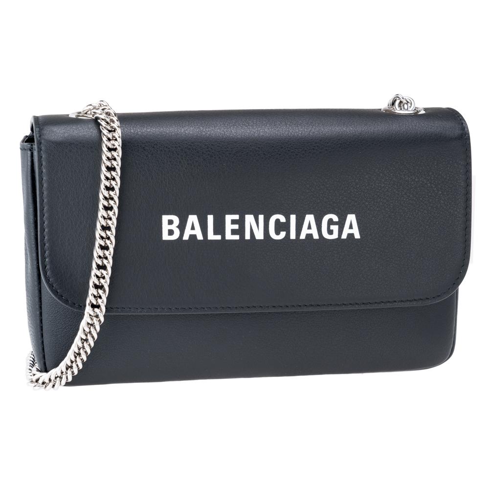 バレンシアガ バッグ BALENCIAGA ショルダーバッグ 財布機能付き カードポケット付き 529763 ブラック レザー 革 レディース プレゼント ギフト