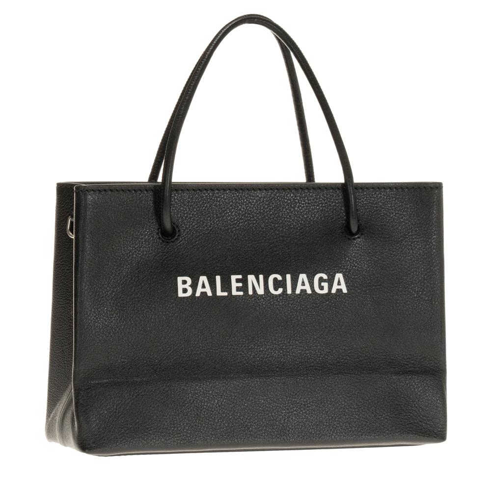 バレンシアガ ハンドバッグ スモールショッパー 2WAYショルダーバッグ レディース BALENCIAGA ブラック系 レザー 革 531546 0AI1N 1060 プレゼント ギフト 送料無料 ショッピングトート