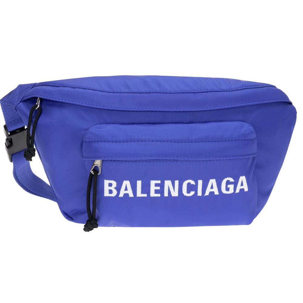 ギフトラッピング対応 SALE品 BALENCIAGA ウエストポーチ ボディバッグ 爆買い新作 533009 2020モデル メンズ セール バレンシアガ ベルトバッグ WHEEL 新品 レディース 正規品 ウィール ブルー 4170 F91X ショルダーバッグ