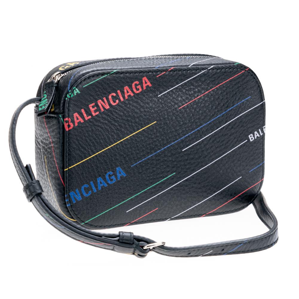 バレンシアガ ショルダーバッグ BALENCIAGA カメラバッグ エブリデイ ブラック マルチカラー 552372 D6WFN 1072 EVERYDAY CAMERA XS 男女兼用 斜め掛け レザー 革