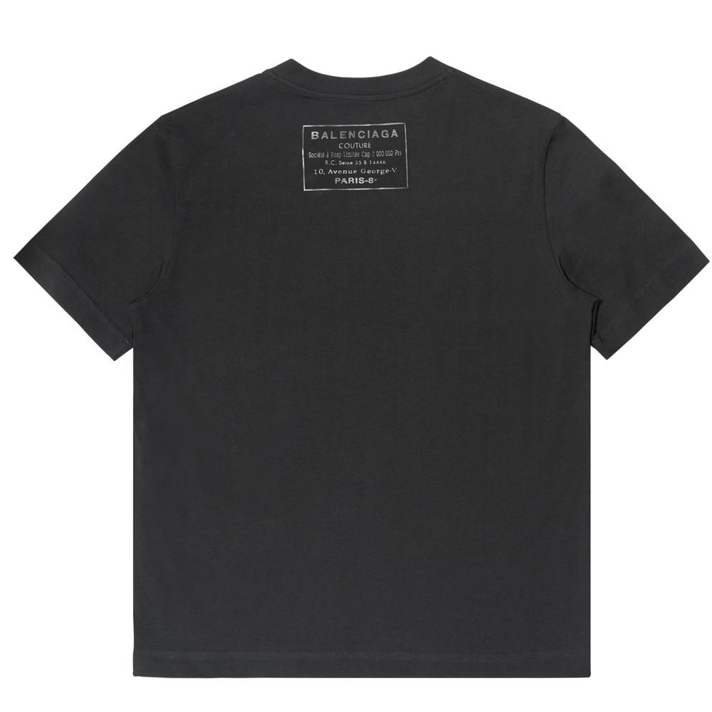 バレンシアガ BALENCIAGA Tシャツ バックロゴ 496053TXK46-1000 ブラックロゴ S コットン 送料無料