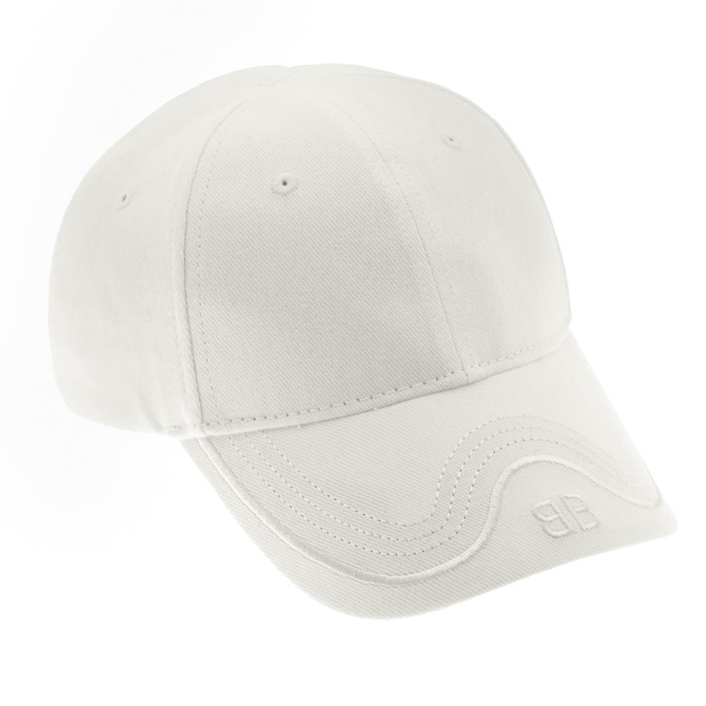 バレンシアガ BALENCIAGA 帽子 キャップ ロゴ メンズ レディース 531585 310b5 9000 ホワイト balenciaga L 56-65cm Mサイズ相当 ユニセックス 男女兼用 刺繍ロゴ 野球帽 送料無料