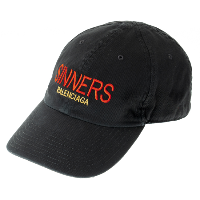 バレンシアガ BALENCIAGA HAT SINNERS ベースボールキャップ 4870674 410 B7 sinners balenciaga ユニセックス 男女兼用 送料無料
