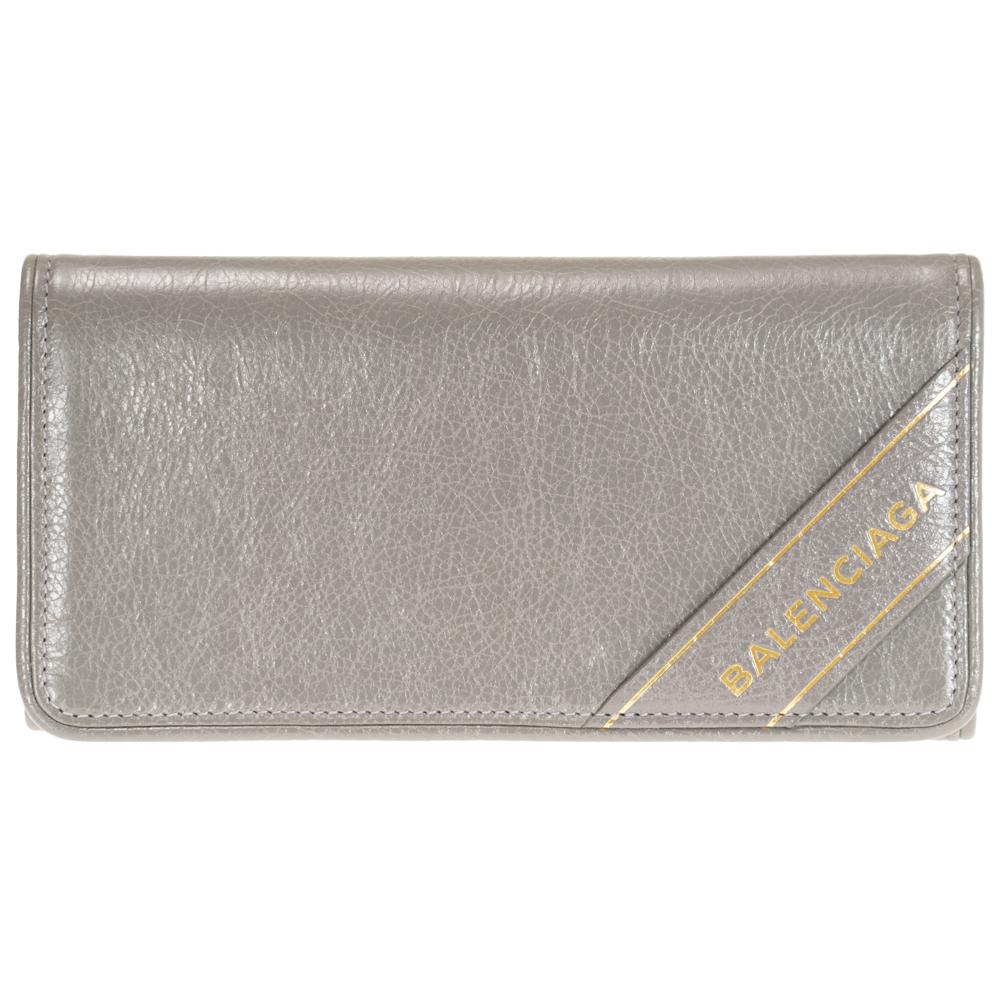 バレンシアガ BALENCIAGA 財布 二つ折り長財布 グレー 466684 D94IG 1730 レザー ブランケット 送料無料