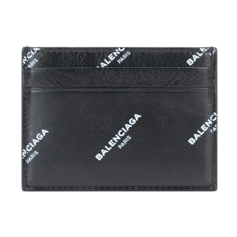 バレンシアガ カードケース パスケース 名刺入れ BALENCIAGA ブラック/ホワイト 485145 0AD2N 1060 レザー おしゃれ お洒落 オシャレ シンプル ブランド 小物