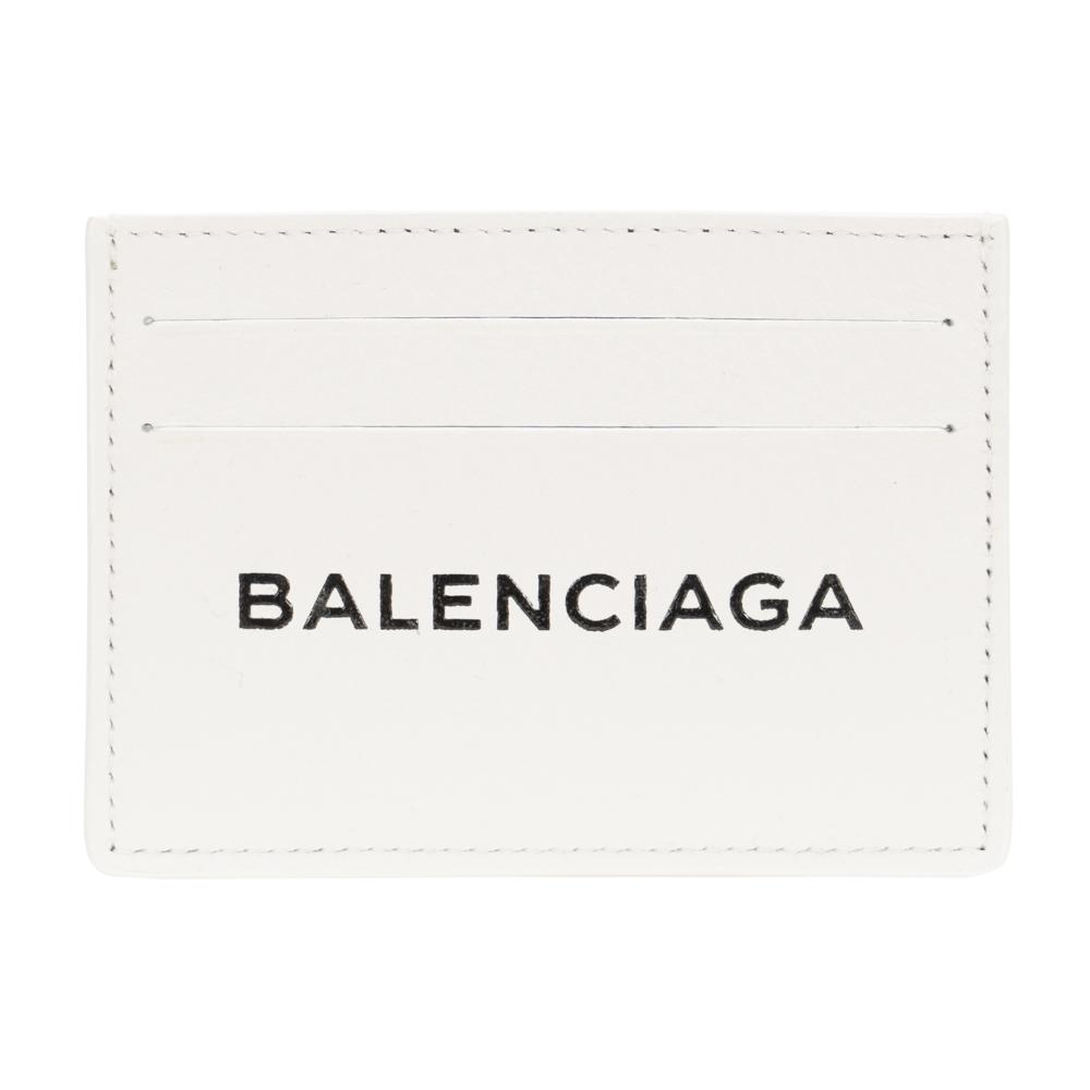 バレンシアガ カードケース メンズ レディース ホワイトBALENCIAGA 490620 DLQ0N 9002 EVERYDAY エブリデイ レザー 革