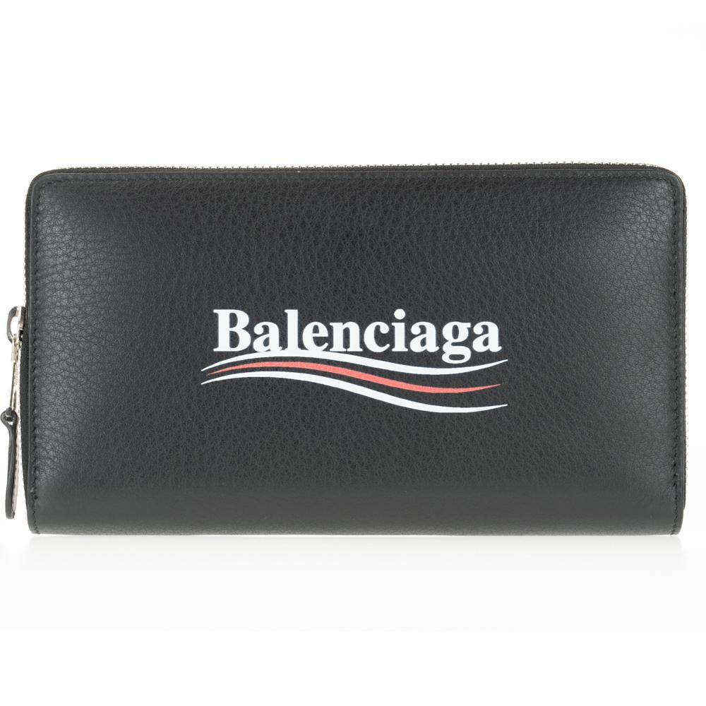 バレンシアガ 財布 長財布 BALENCIAGA ブラック 516362 DLQ9N 1000 レザー ファスナー ZIP 送料無料