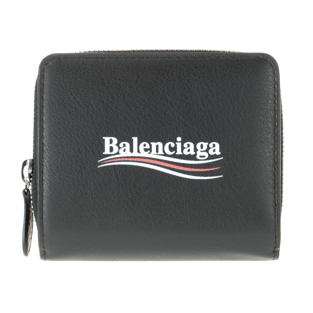 バレンシアガ 財布 二つ折り財布 BALENCIAGA ブラック 516366 DLQ9N 1000 エブリデイ スクエア レザー コンパクト EVERYDAY 送料無料