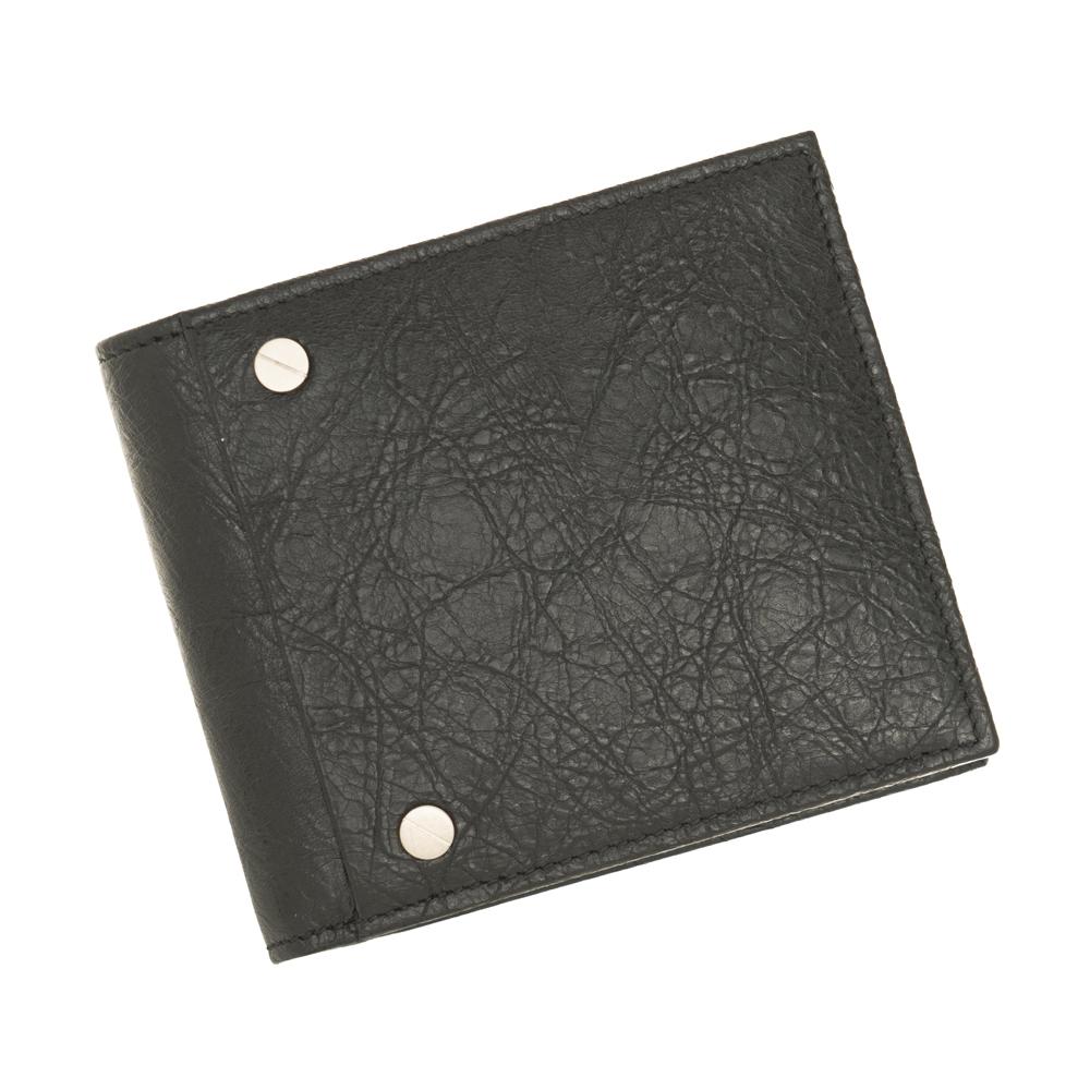 バレンシアガ 財布 542001 二つ折り財布 小銭入れ付き メンズ BALENCIAGA CU504 1000 レザー 革 ブラック 黒 ギフト プレゼント